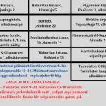 Vantaan ennakkoäänestyspaikat 26.5-8.6